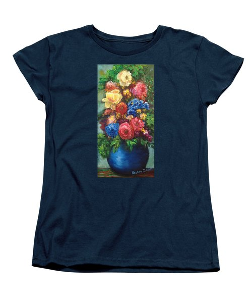 Flowers Women's T-Shirt (Standard Cut) by Bozena Zajaczkowska
