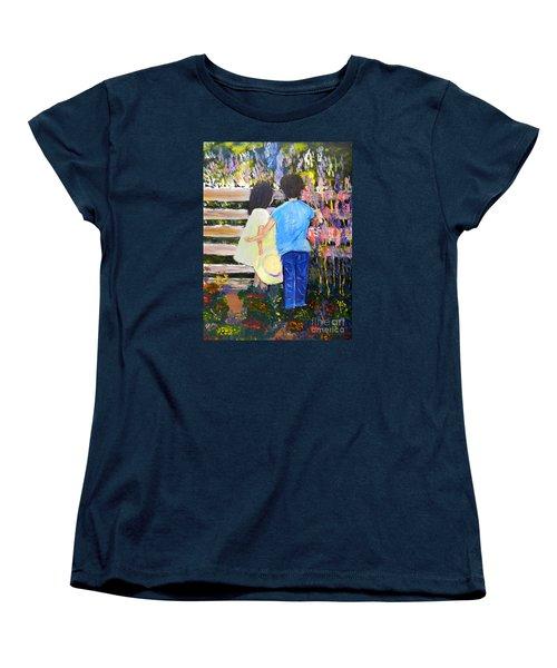 Flowers For Her Women's T-Shirt (Standard Cut) by Pamela  Meredith