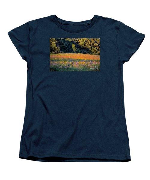 Flowers In The Meadow Women's T-Shirt (Standard Cut) by Deb Halloran