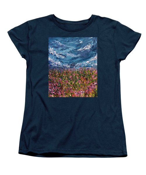 Women's T-Shirt (Standard Cut) featuring the painting Flowers Of The Field by Meaghan Troup