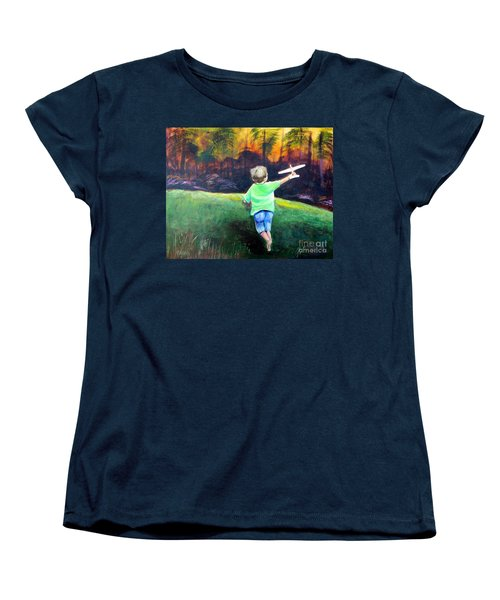 Flying High Women's T-Shirt (Standard Cut) by Patricia Piffath