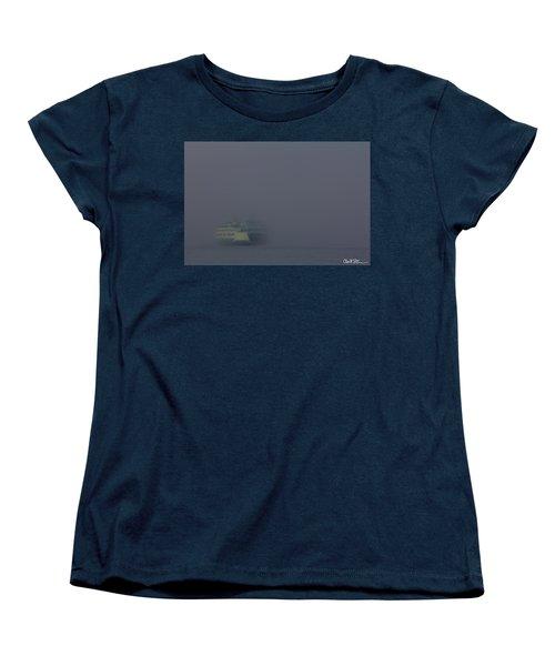 Foggy Ferry Ride Women's T-Shirt (Standard Cut) by Charlie Duncan