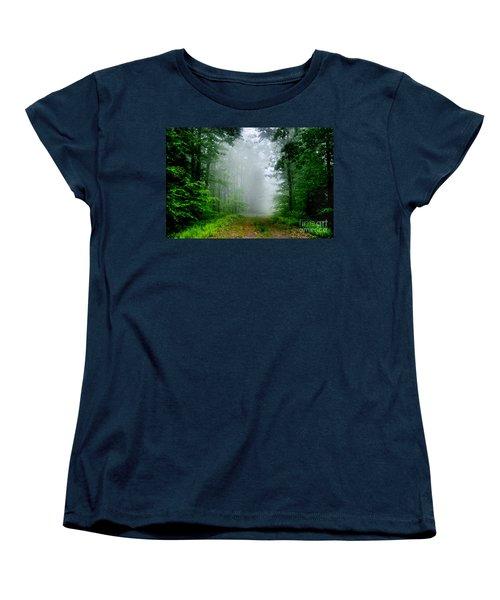 Foggy Morning Women's T-Shirt (Standard Cut) by Debra Fedchin