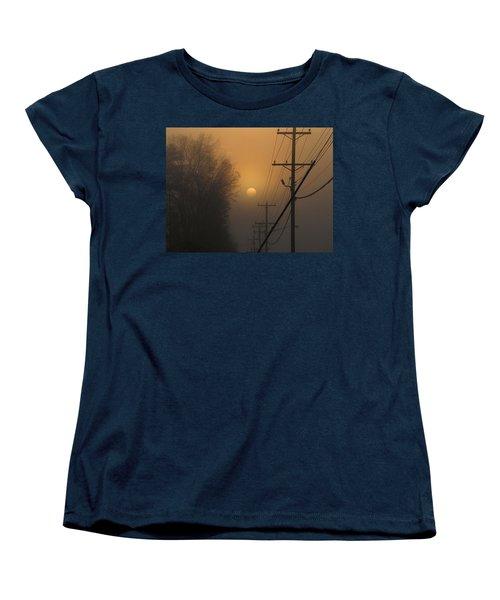 Women's T-Shirt (Standard Cut) featuring the photograph Foggy Sunrise by Greg Simmons