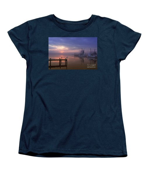 Foggy Sunset Over Swansboro Women's T-Shirt (Standard Cut) by Benanne Stiens