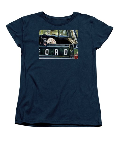 For Our Retriever Dogs Women's T-Shirt (Standard Cut) by Molly Poole