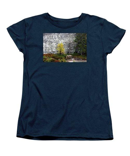 Women's T-Shirt (Standard Cut) featuring the photograph Forest Altar by Leena Pekkalainen