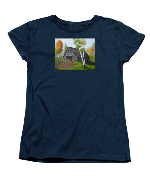 Forest Barn Women's T-Shirt (Standard Cut) by Sheri Keith