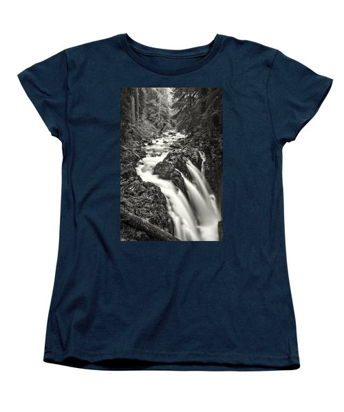 Forest Water Flow Women's T-Shirt (Standard Cut) by Ken Stanback