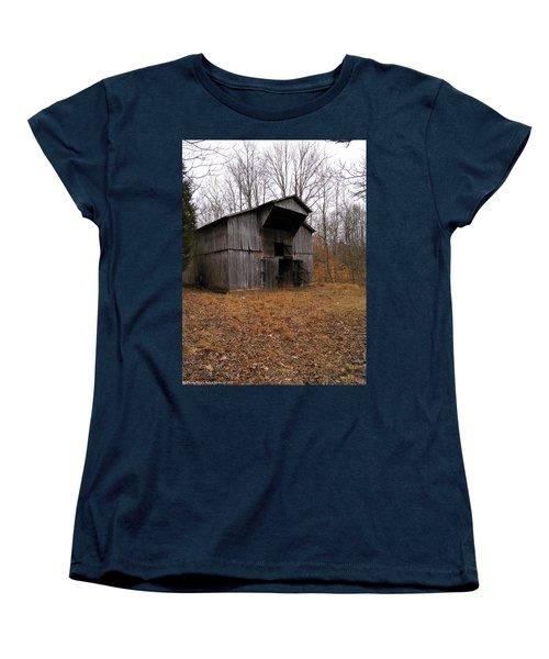 Women's T-Shirt (Standard Cut) featuring the photograph Forgotten Barn by Nick Kirby
