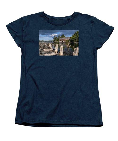 Forgotten Downeast Smokehouse Women's T-Shirt (Standard Cut) by Marty Saccone