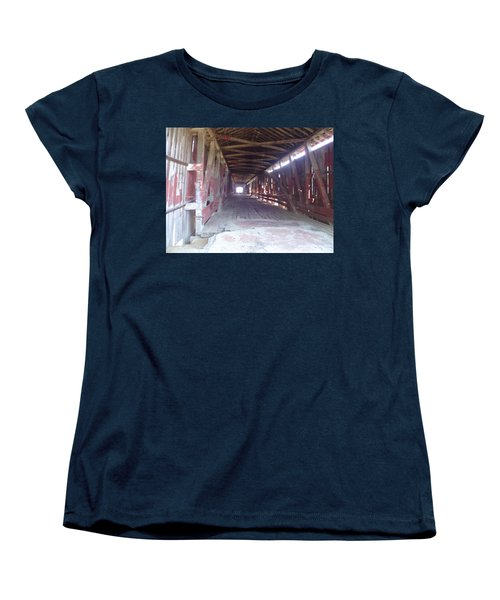 Women's T-Shirt (Standard Cut) featuring the photograph Forgotten Tunnel by Fortunate Findings Shirley Dickerson