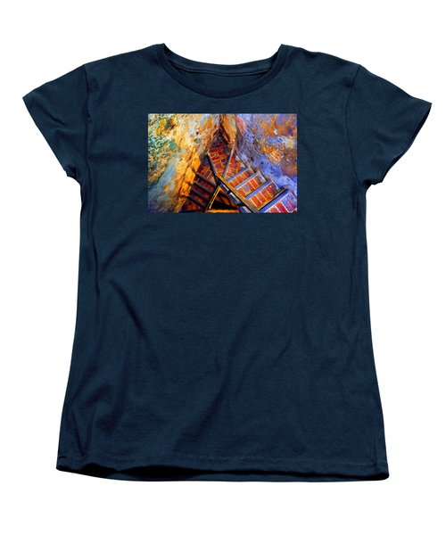 Fortress Steps Women's T-Shirt (Standard Cut) by Stephen Anderson