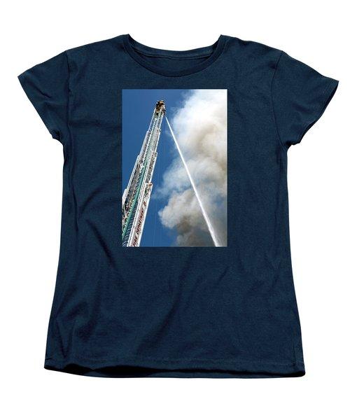 Four Alarm Blaze 001 Women's T-Shirt (Standard Cut) by Lon Casler Bixby