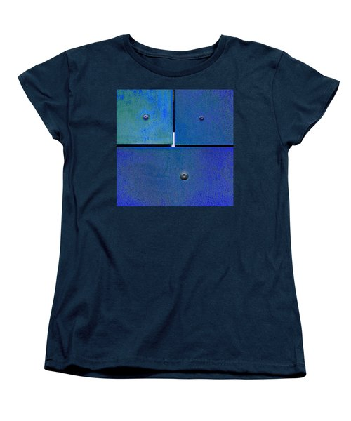 Four Five Six - Colorful Rust - Blue Women's T-Shirt (Standard Cut) by Menega Sabidussi