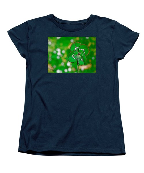 Four Leaf Clover Women's T-Shirt (Standard Cut) by Ludwig Keck