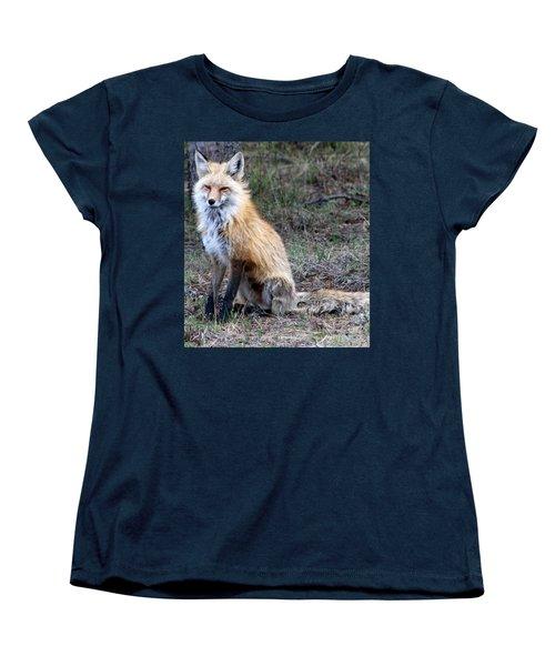 Foxy Lady  Women's T-Shirt (Standard Cut) by Fiona Kennard