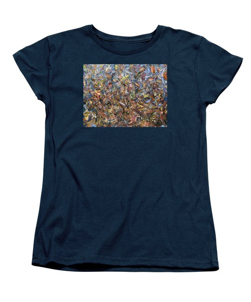 Women's T-Shirt (Standard Cut) featuring the painting Fragmented Fall by James W Johnson