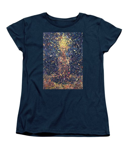Women's T-Shirt (Standard Cut) featuring the painting Fragmented Flame by James W Johnson