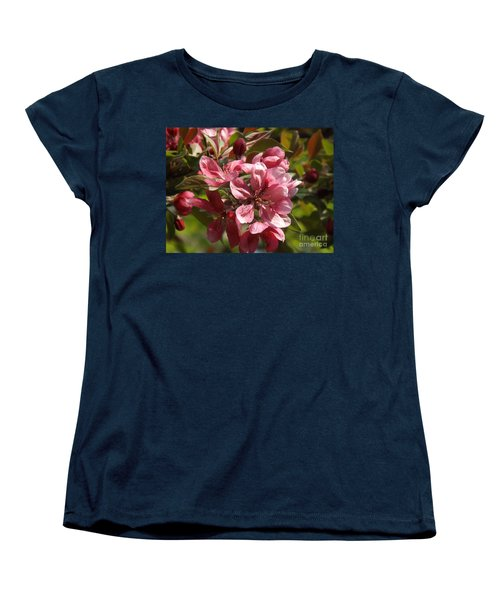 Fragrant Crab Apple Blossoms Women's T-Shirt (Standard Cut) by Brenda Brown