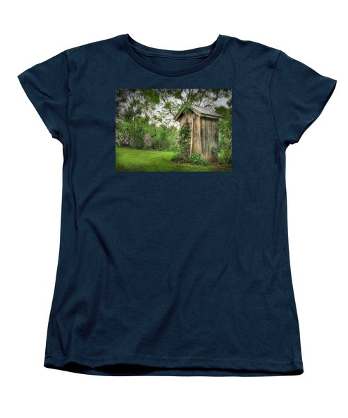 Fragrant Outhouse Women's T-Shirt (Standard Cut) by Lori Deiter