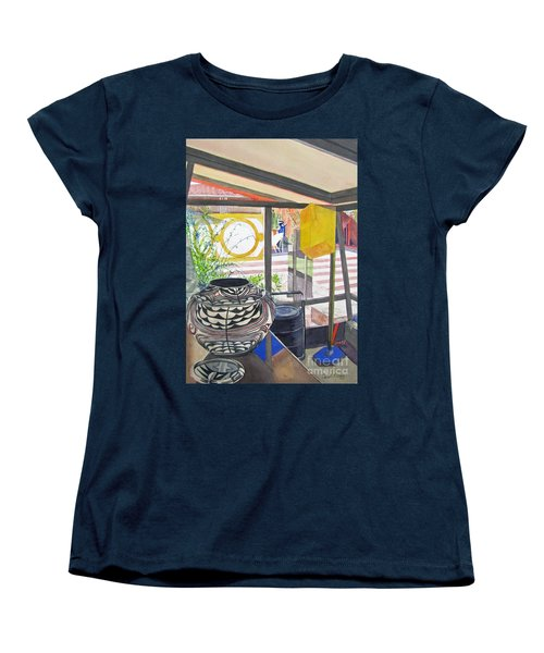 Women's T-Shirt (Standard Cut) featuring the painting Frank Lloyd Wright Taliesin West by Carol Flagg