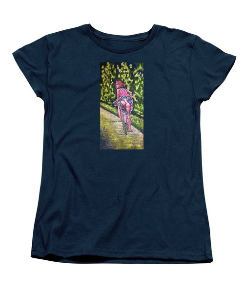Women's T-Shirt (Standard Cut) featuring the painting Free by Viktor Lazarev