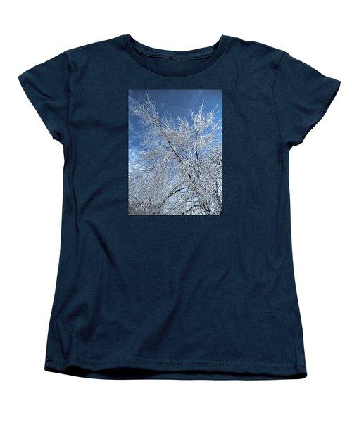 Women's T-Shirt (Standard Cut) featuring the photograph Freezing Rain ... by Juergen Weiss