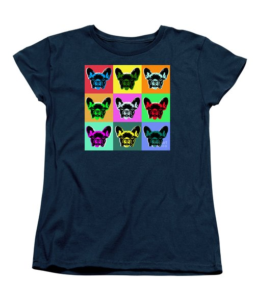 French Bulldog Women's T-Shirt (Standard Cut) by Jean luc Comperat