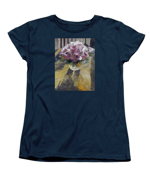 Women's T-Shirt (Standard Cut) featuring the painting Fresh by Pattie Wall