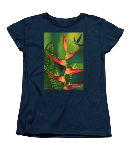 Women's T-Shirt (Standard Cut) featuring the painting Friendship by Laura Forde