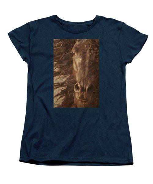 Friesian Spirit Women's T-Shirt (Standard Cut) by Melinda Hughes-Berland