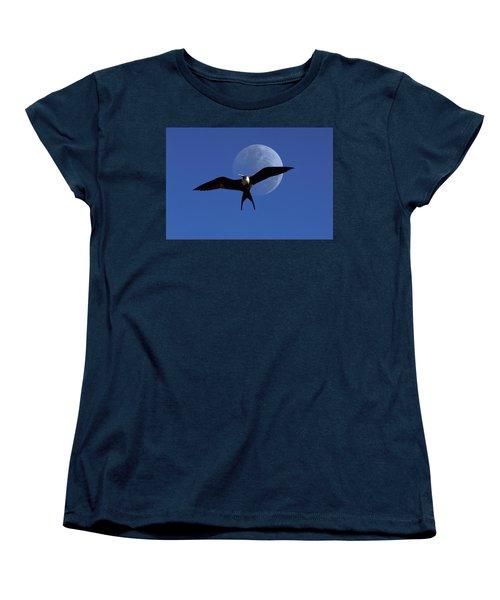 Frigatebird Moon Women's T-Shirt (Standard Cut) by Jerry McElroy