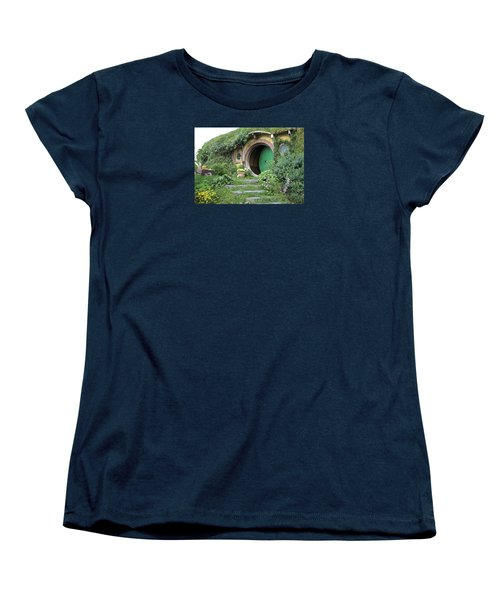 Frodo Baggins Lives Here Women's T-Shirt (Standard Cut) by Venetia Featherstone-Witty