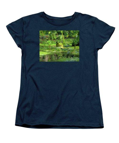 Frog Women's T-Shirt (Standard Cut) by Douglas Stucky