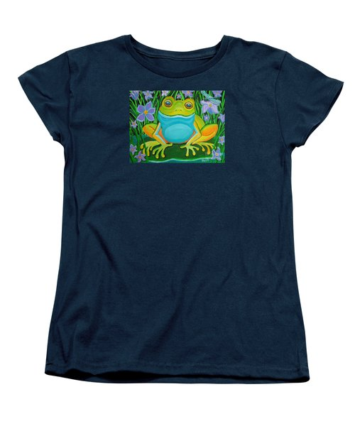 Frog On A Lily Pad Women's T-Shirt (Standard Cut) by Nick Gustafson
