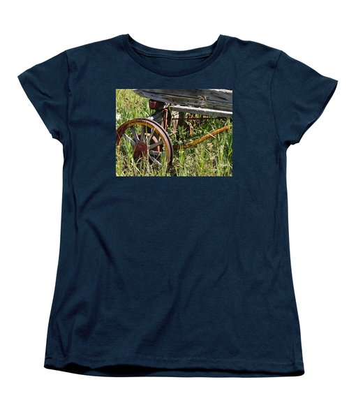 From Rust To Grass Women's T-Shirt (Standard Cut) by Meghan at FireBonnet Art