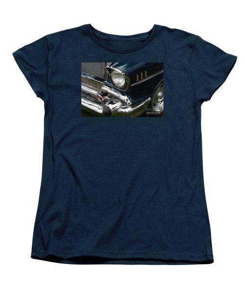 Women's T-Shirt (Standard Cut) featuring the photograph Front Side Of A Classic Car by Gunter Nezhoda
