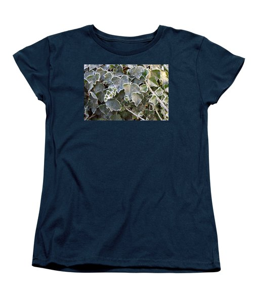 Women's T-Shirt (Standard Cut) featuring the painting Frozen Hedera Helix 2 by Felicia Tica