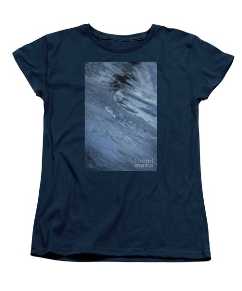 Women's T-Shirt (Standard Cut) featuring the photograph Frozen Wave by First Star Art