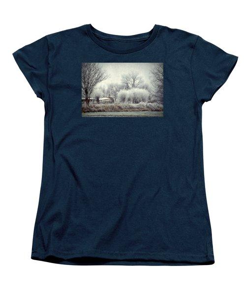 Frozen World Women's T-Shirt (Standard Cut) by Annie Snel