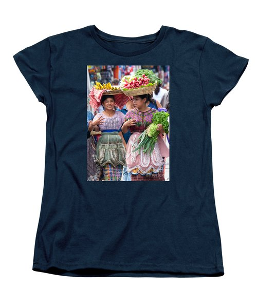 Fruit Sellers In Antigua Guatemala Women's T-Shirt (Standard Cut) by David Smith