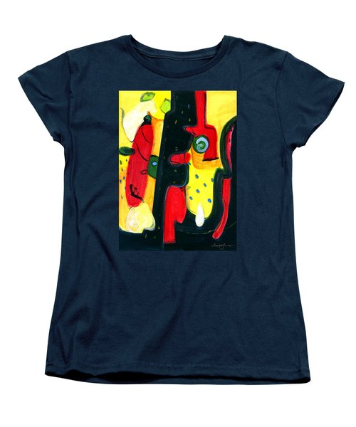 Women's T-Shirt (Standard Cut) featuring the painting Fuego by Stephen Lucas