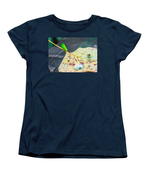 Women's T-Shirt (Standard Cut) featuring the photograph Fulgoroidea On A Leaf by Rob Sellers