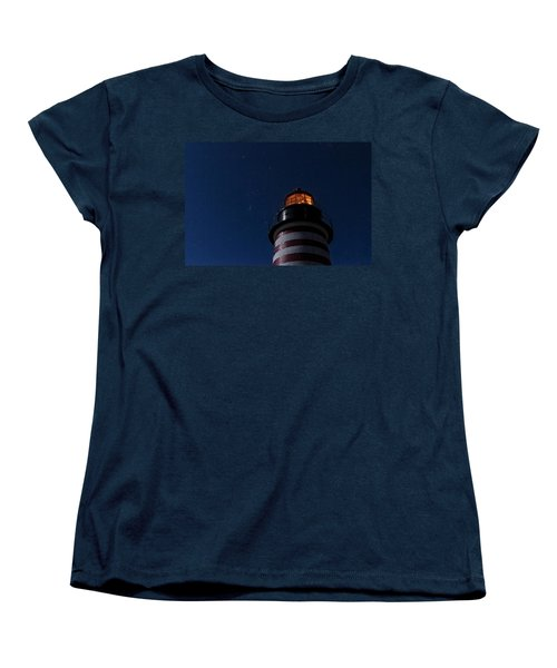 Full Moon On Quoddy Women's T-Shirt (Standard Cut) by Marty Saccone