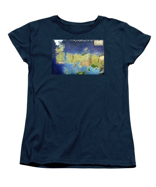 Game Of Thrones World Map Women's T-Shirt (Standard Cut) by Gianfranco Weiss