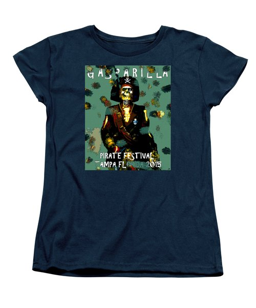 Gasparilla Pirate Fest 2015 Full Work Women's T-Shirt (Standard Cut) by David Lee Thompson