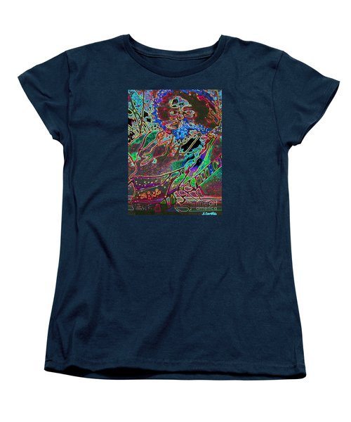 Women's T-Shirt (Standard Cut) featuring the photograph In And Out Of The Garden Stained Glass by Susan Carella