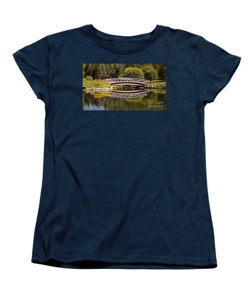 Garden Bridge Women's T-Shirt (Standard Cut) by Linda Bianic