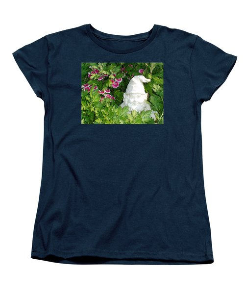 Women's T-Shirt (Standard Cut) featuring the photograph Garden Gnome by Charles Kraus